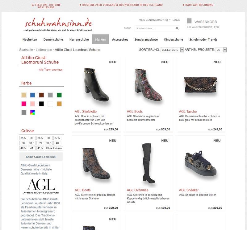 AGL Schuhe die Suche danach