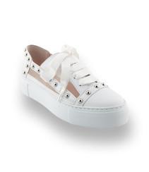 AGL Sneaker in weiß mit Mesh und Nieten